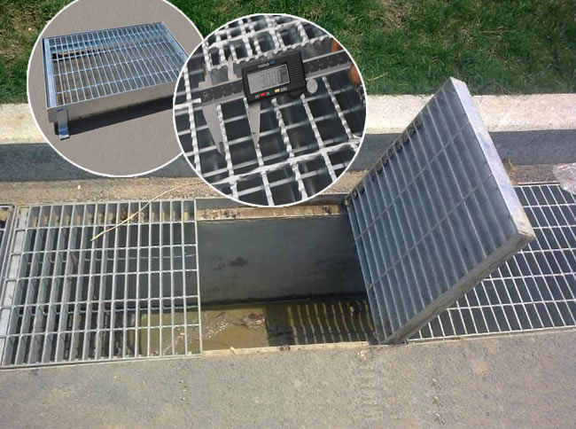 Steel grate drain covers trench cover grating