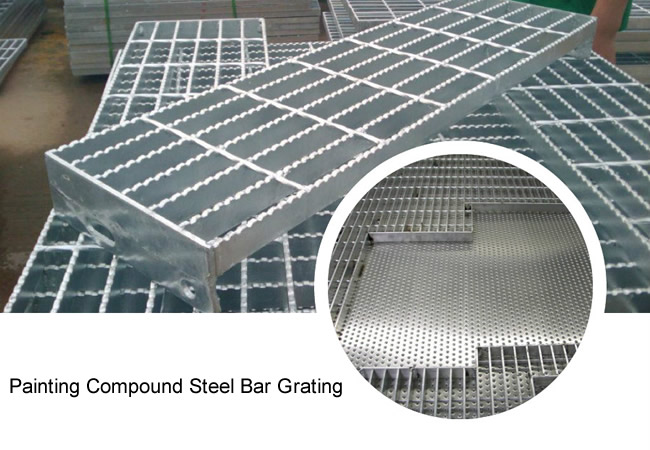 Compound Steel Bar Grating with Anti-Skidding Checkered Plate