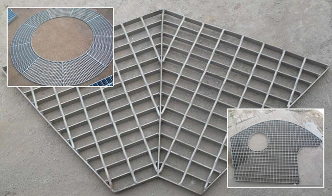Steel Grating Channel Platform For Big Span Metal